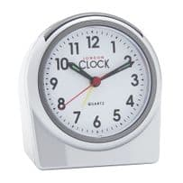 London Clock Company 04155 Silver Round Alarm Clock