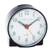 London Clock Company 04158 Black Mini Travel Alarm Clock