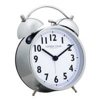 London Clock Company 04170 Chrome Finish Twin Bell Alarm Clock