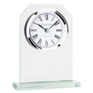 London Clock Company 05159 Octagonal Top Glass Mantel Clock