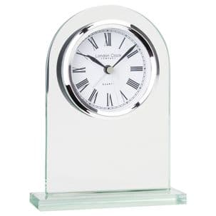 London Clock Company 05161 Arch Top Glass Mantel Clock