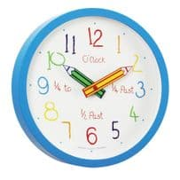 London Clock Company 24154 Childrens Blue Colouring Box Wall Clock