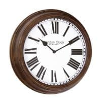 London Clock Company 24374 Traditional Dark Wood Wall Clock