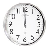 London Clock Company 24380 Radio Controlled White Wall Clock