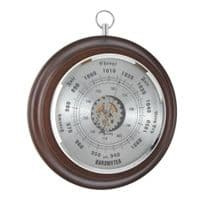 London Clock Company 28043 Solid Wood  Barometer