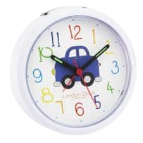 London Clock Company 32451 Childrens Blue Car Alarm Clock