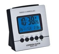 London Clock Company 34381 Silver And Black Digital Alarm Clock