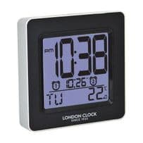 London Clock Company 34386 Siver Talking Dual Alarm Clock