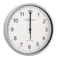 London Clock Company 36034 Radio Controlled Simple Silver Wall Clock