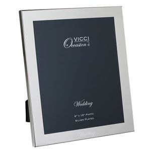 VICCI 53033 Silver-Plated 8X10 Wedding Photoframe