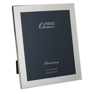 VICCI 53034 Silver-Plated 8X10 Anniversary Photoframe