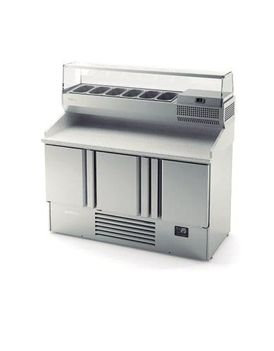 Blizzard ME1003VIP 3 Door Compact Gastronorm Pizza Prep Counter 355L