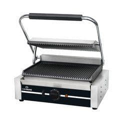 Chefmaster Large Panini Contact Grill - Ribbed HEA787