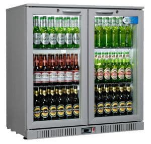 Coolpoint HX Range HX-200 Grey Double Door Back Bar Chiller