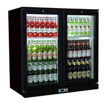 Coolpoint HX Range HX-201 Black Double Door Bottle Cooler