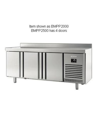 Infrico BMPP2500 4 Door 600Mm Depth Counter With Upstand 525L