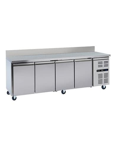 Infrico HBC4 4 Door Gn1/1 Counter With Upstand 553L