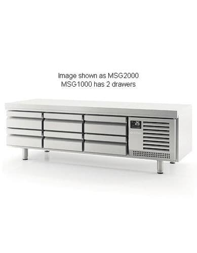 Infrico MSG1000 2 Drawer Low Height Gastronorm Snack Table 75L