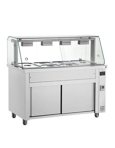 Inomak Gastronorm Bain Marie with glass structure MIV718