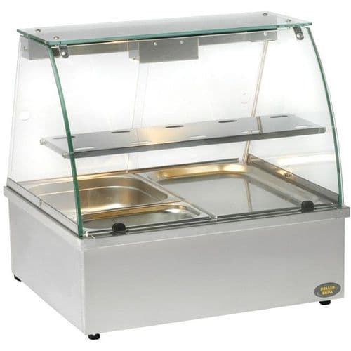 Roller Grill BMV2 Bain Marie with Display Cabinet Bain Maries