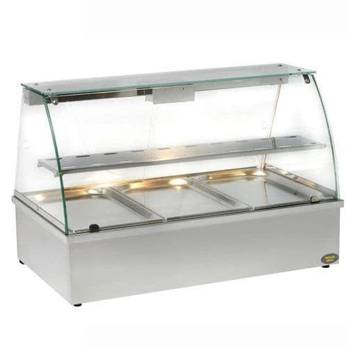 Roller Grill BMV3 Bain Marie with Display Cabinet Bain Maries
