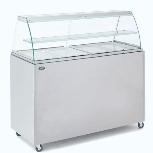 Roller Grill BMV4 Bain Marie with Display Cabinet Bain Maries