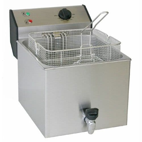 Roller Grill FD120R Single 12L with Drain Tap Fryers