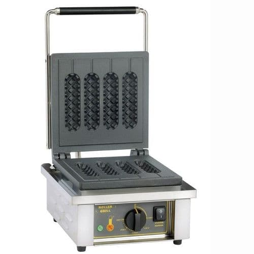Roller Grill GES80 Single Hot Dog Waffle Iron Waffle Irons