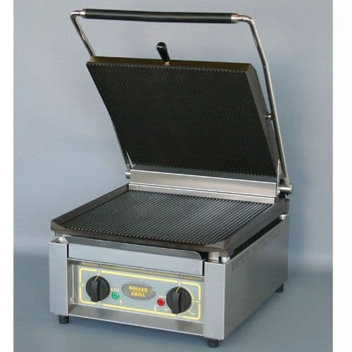 Roller Grill PANINI XLE Extra Large Single - Ribbed Top & Base Plates Contact Grills