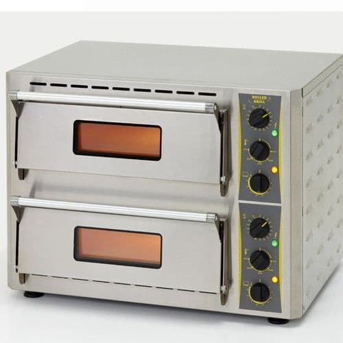 Roller Grill PZ4302D Twin Oven, 600mm with Stone Base Ovens