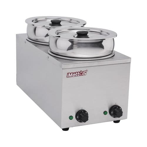 Bain Marie With 2 Round Pots 2 x 6.5 Ltr - BMP-7X2