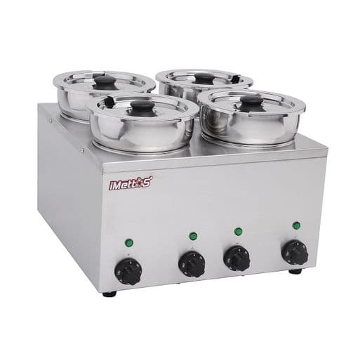 Bain Marie With 4 Round Pots 4 x 3.5 Ltr - BMP-4X4