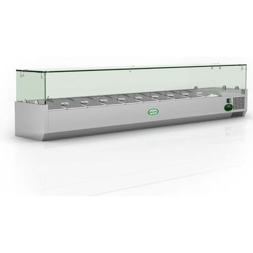 Genfrost GRX200/14 Glass Top Topping Unit 10 x 1/4GN