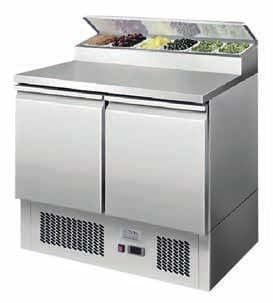 Ice-A-Cool ICE3832GR 2 Door Refrigerated Saladette Prep Counter 300 Litres