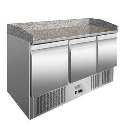 Ice-A-Cool ICE3852GR 3 Door Marble Top Refrigerated Counter
