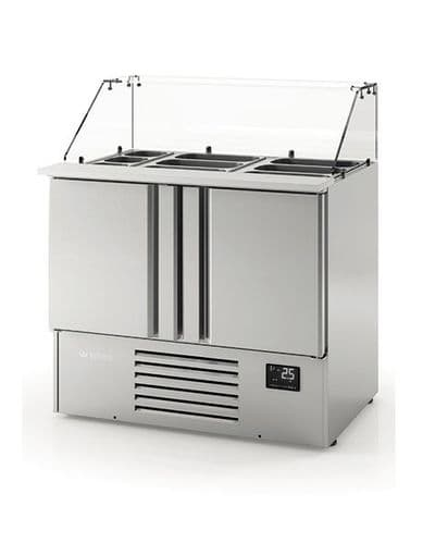 Infrico Compact Gastronorm Counter with glass display - ME1000KB