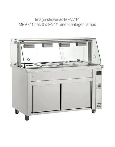 Inomak Gastronorm Bain Marie with glass structure MFV711