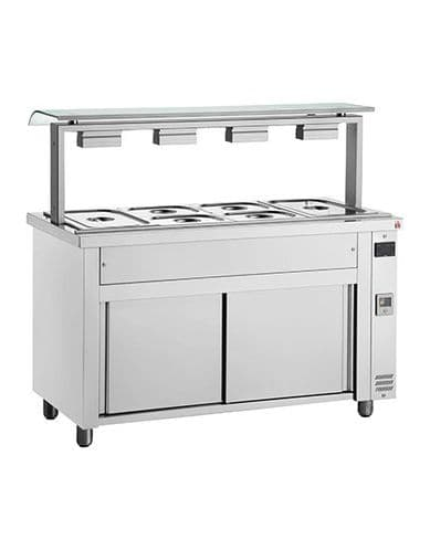 Inomak Gastronorm Bain Marie with glass structure MFV714