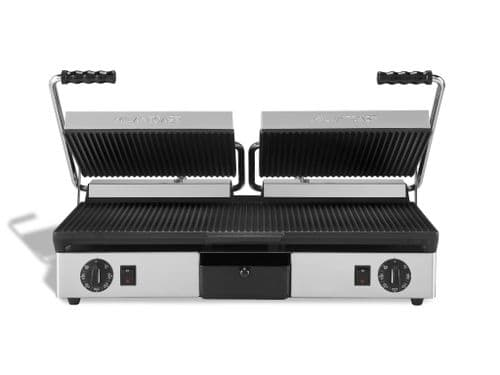 Maestrowave MEMT16052XNS Ribbed top and flat bottom non-stick plates