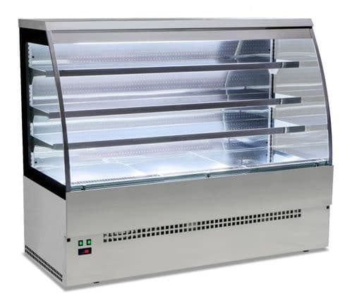 Sterling Pro EVO-SELF120-SS Stainless Steel Self Service Patisserie Counter, 1.2m