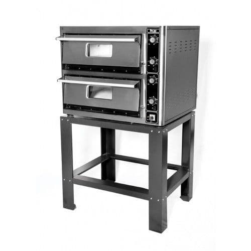 Super Pizza PO6868DETG Double Electric Pizza Oven with Temp Display