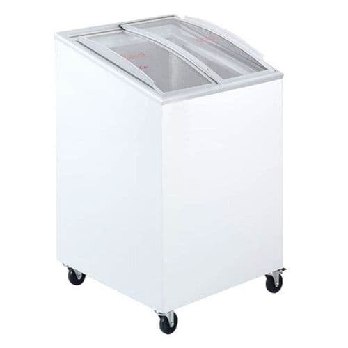Tefcold IC100SCEB Sliding Curved Glass Lid Chest Freezer