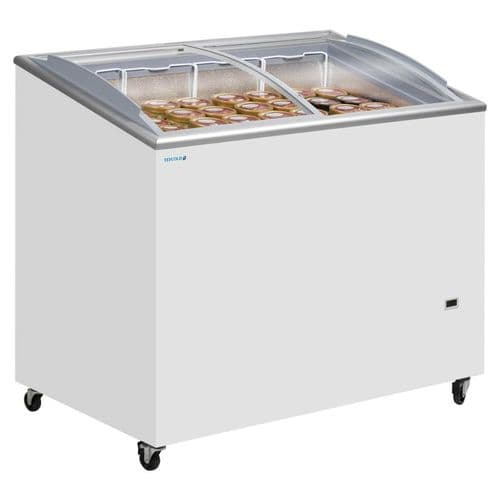 Tefcold IC300SCEB Sliding Curved Glass Lid Chest Freezer