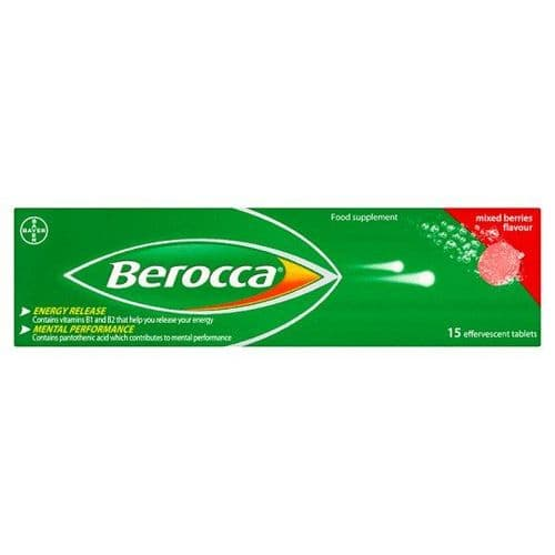 Berocca Mixed Berries Flavour 15 Tablets