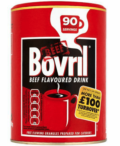 Bovril Beef Flavoured Drink 2 x 450g, (approx. 90 Servings per tub)