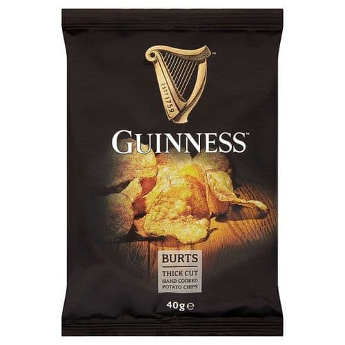 Burts Guinness Thick Cut Hand Cooked Potato Chips 40g x 20 Box