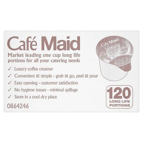 Cafe Maid Luxury Coffee Creamer Pots 12ml Individual Portions Box of 120