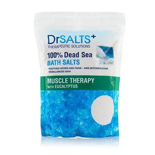 Drsalts 100% Dead Sea Bath Salts with Eucalyptus Muscle Therapy with Natural Minerals, Soothe Muscle