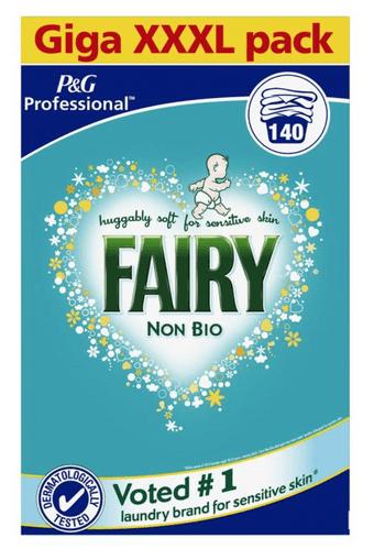 Fairy Non-Bio Washing Laundry Powder XXXL 140 Wash for Sensitive Skin