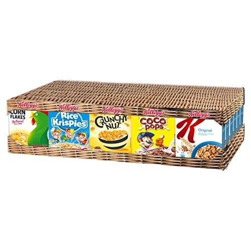 Kellogg's Cereal Mixed Case 35 Portion Packs (Top 5 Brands)